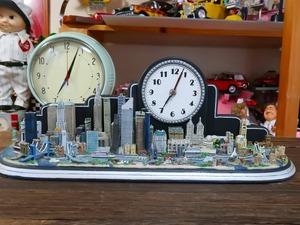 爆レア★絶版★ニューヨークシティ 50以上のランドマーク クロック付 ジオラマ模型 ダンバリーミント