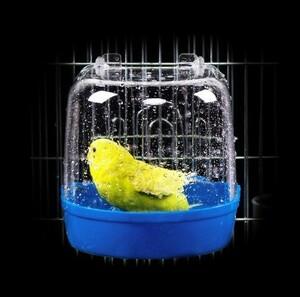 h1118 バードバスボックス プラスチック 浴槽オウムインコ ペットケージぶら下げボウル 全5色