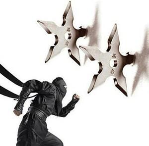 h1058 手裏剣コートフック 忍者スター形状ステンレス鋼 壁ドアフック 服帽子ハンガーホルダー 家の装飾