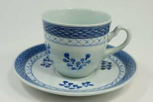 ロイヤルコペンハーゲン トランクェーバー コーヒーカップ&ソーサー Blue ROYAL COPENHAGEN Tranquebar 廃盤