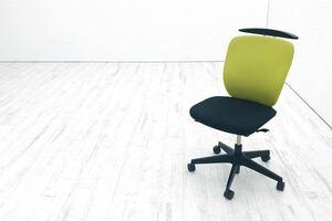 イトーキ プラオチェア 中古チェア 肘なし アップルグリーン 中古オフィス家具 オフィスチェア KE-240GHHT1T1L6