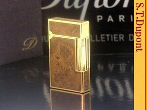 【 レア ヨウ(美しい衣服 )】S.T.Dupont ピンク系ゴールド&バーズアイ ライン2 ガスライター◆デュポン 葉巻!たばこ喫煙具グッズ
