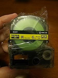 送料無料【即決】黄色 6mm 黒文字 SC6Y テプラカートリッジ テプラテープ 4971660764600