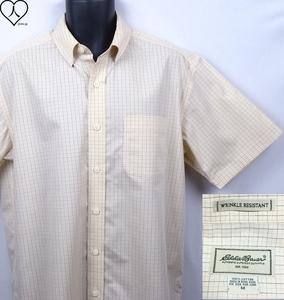 《郵送無料》■Ijinko◆エディーバウアー Eddie Bauer Wrinkle Resistant 防しわ性 M サイズ半袖Yシャツ