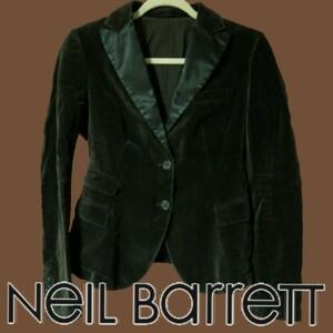 【美品】 ニールバレット ジャケット テーラード 茶色 ブラウン ベロア 高級 正規品