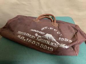 アメリカ軍 進駐軍 兵隊 私物 旅行カバン スーベニアバッグ 破損品 劣化 状態悪い アメリカ陸軍 空軍 海軍