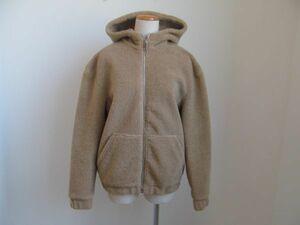 (37107)H&M エイチアンドエム ボア パーカー ジップ ジャケット ベージュ EUR/38 (165/88A) 美品