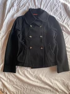 ヴィヴィアンウエストウッド Vivienne Westwood Pコート サイズ2 カシミア混 高級 変形デザイン 黒