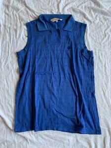 Christian Dior ディオール ブルー ノースリーブ ポロシャツ L 長期保管品