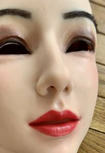 シリコン全頭マスクフィメールマスクフルフェイスマスクフィメールマスク全身タイツゼンタイボディースーツと合わせて着ぐるみ女装にも