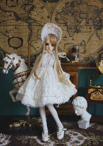 アウトフィット ロリータ ドレス ドール 人形 bjd 1/3 ホワイト