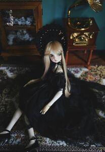 アウトフィット ロリータ ドレス ドール 人形 bjd 1/4 ブラック