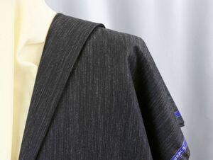★ドーメル社「ナチュラルズ」天然繊維で勝負したレア素材(麻60%・毛・絹混)やや濃いめグレーのかすり風無地タイプ/長さ3.3m