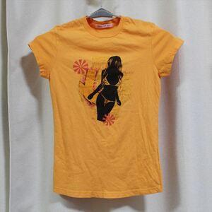パメラアンダーソン Pamera Anderson レディース半袖Tシャツ オレンジ Sサイズ アウトレット 新品