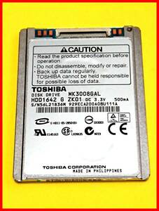 * super superior article use 6 hour * Toshiba LIF ZIF 1.8.5mm 30GB 4200rpm MK3008GAL Apple iPod etc. for HDD FW BU111A #4123