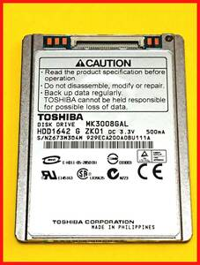 * super superior article use 7 hour * Toshiba LIF ZIF 1.8.5mm 30GB 4200rpm MK3008GAL Apple iPod etc. for HDD FW BU111A #4128