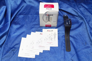 *5 piece insertion load * POLAR/ polar GPS heart rate meter measurement with function wristwatch *M400HR( black )/ original box * start guide equipped * 43955S