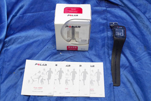 *5 piece insertion load * POLAR/ polar GPS heart rate meter measurement with function wristwatch *M400HR( black )/ original box * start guide equipped * 43956S