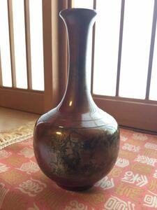 壺 一輪挿し 陶印あり 紫豊