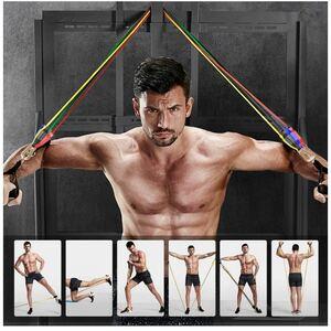 トレーニングチューブ 超強化 チューブトレーニング 腕、背中、脚胸部腹部臀部用
