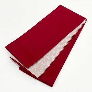 ☆新品☆卒業袴・浴衣・着物 赤系桜模様半巾帯 157