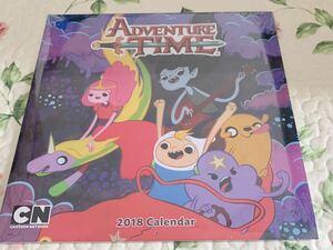 即決 新品未開封 アドベンチャータイム 2018 壁掛けカレンダー 廃盤 海外カレンダー ジェイク フィン