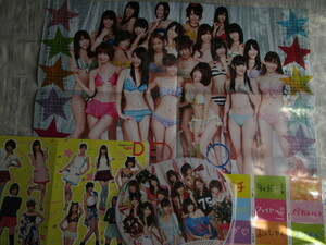 AKB48渡辺麻友、柏木由紀他ポスターカレンダー、シール、うちわ