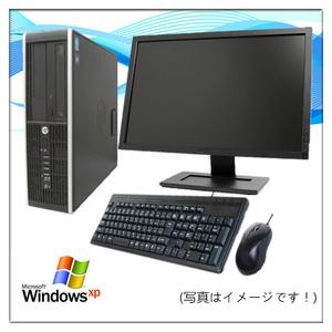中古パソコン デスクトップパソコン Windows XP 22型液晶セット HP Compaq 6300 or 8300 Elite Core i5 3470 3.2G メモリ4GB 新品SSD 240GB
