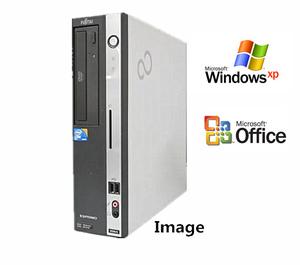 中古パソコン デスクトップ Windows XP Pro 純正Microsoft Office 2010付 富士通パソコン Dシリーズ Core i5/メモリ4GB/新品SSD 120GB