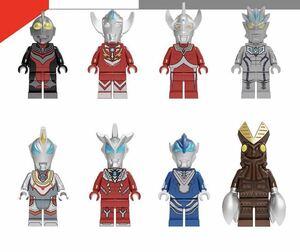 ウルトラマン ミニフィグ LEGO 互換 ミニフィギュア レゴ互換 8体セット