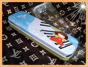 ◆ レア レトロ ビクター 音楽教室 非売品 ? ペンケース カンペン 筆箱 未使用 文房具 お値打ち品