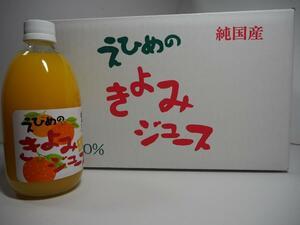 地元愛媛の道の駅で人気!愛媛県産果汁100%清見タンゴールストレートジュース500mlx12本入り!管理ナンバー42