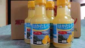 国産瀬戸内産レモン100%果汁150㎜×10本入り。ハイボールやドレッシングにも!