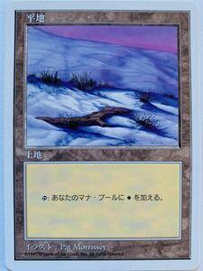 5ED 平地 D絵柄 日本語1枚 第5版 基本土地 基本地形 人気絵柄 希少 複数可