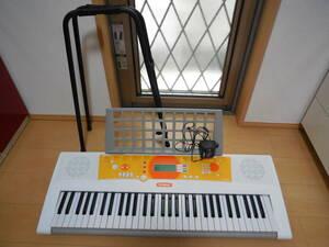 YAMAHA ヤマハ EZ-J210 PORTATONE 電子キーボード 61鍵盤 光鍵盤 ポータトーン スタンド アダプター付属 中古品 動作確認済