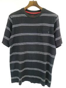 Supreme シュプリーム ボーダーポケットTシャツ ブラック S メンズ