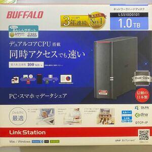 BUFFALOネットワークHDD(NAS) デュアルコアCPU 高速モデル1TB