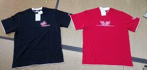 ★レトロ ヴィンテージ ビンテージ PIKO ピコTシャツ 新品 L 赤・黒
