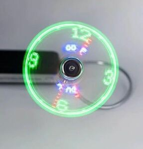 LED display real time clock thermometer USB Mini fan