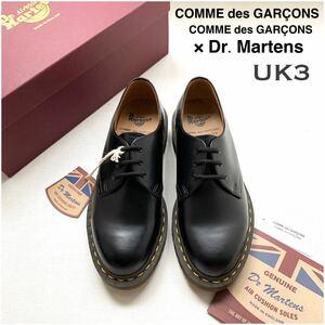 新品 英国製 コムコム コムデギャルソン ドクターマーチン コラボ Dr.Martens MIE 1461 シューズ UK3 黒 レディース 定番 MADE IN ENGLAND