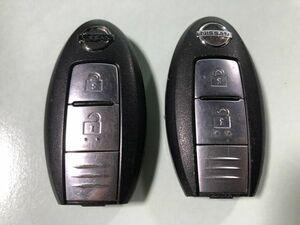 ◎日産 純正 スマートキー キーレス インテリジェントキー 鍵 2ボタン 2個セット◎030236n