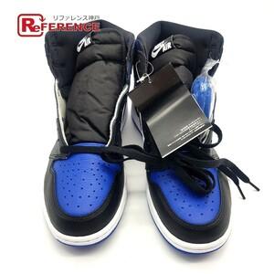 未使用 NIKE ナイキ 555088-041 AIR JORDAN 1 RETRO HIGH OG ROYAL TOE エアジョーダン シューズ 靴 スニーカー 革製 合成繊維 メンズ 青
