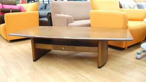 カリモク ローテーブル センターテーブル リビングテーブル 幅150cm 天然木単板 引出し付き 座卓 karimoku 札幌発
