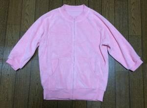 即決 美品 ピンク パーカ 5分袖 ピーチジョン パイル素材 S 綿 パーカー PEACH JOHN 羽織り モテ 女子力 トップス レディース