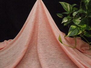 掘り出し品!高級ブランド!オリジナル!なかなかお安くに入らない!上質リネン100%強撚糸ニット!サンセット色!140cm巾1.5m