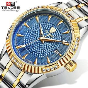 【送料無料】メンズ腕時計 40mm 機械式 自動巻 カレンダー 海外人気 夜光 防水 男性 ウォッチ 紳士 通勤 ファション ブルー