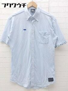 ◇ ◎ TURTOISE タータス 半袖 シャツ サイズL ブルー メンズ