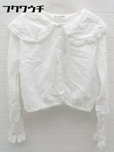 ◇ ◎ Ray BEAMS レイ ビームス 長袖 シャツ サイズ1 ホワイト レディース