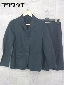 ◇ LAPIS BEAMS ラピス ビームス バックジップ 膝丈 シングル 3B スカート スーツ サイズ38 ネイビー レディース