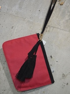 ピエール アルディ PIERRE HARDY レザー クラッチ バッグ ポーチ 鞄 タッセル付き C6956